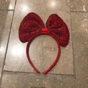 glitter bow headband from LF